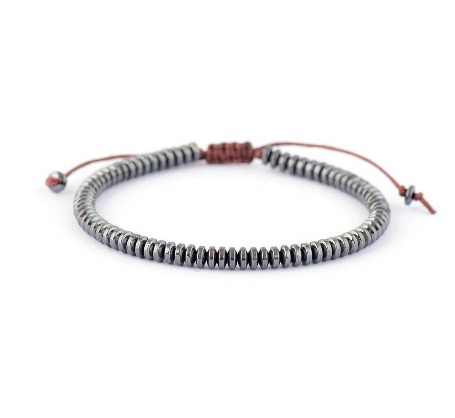 Men Bracelet Disc Shape Hematite Stone Shamballa Bracelet Handmade  Friendship Bracelets Mens Beads Bracelet Jewelry