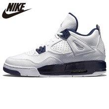 Nike Air Jordan 4 AJ4 Putih Biru dan Putih Sepatu Basket Nyaman Olahraga  Outdoor Sepatu 314254 107 89341fb95b