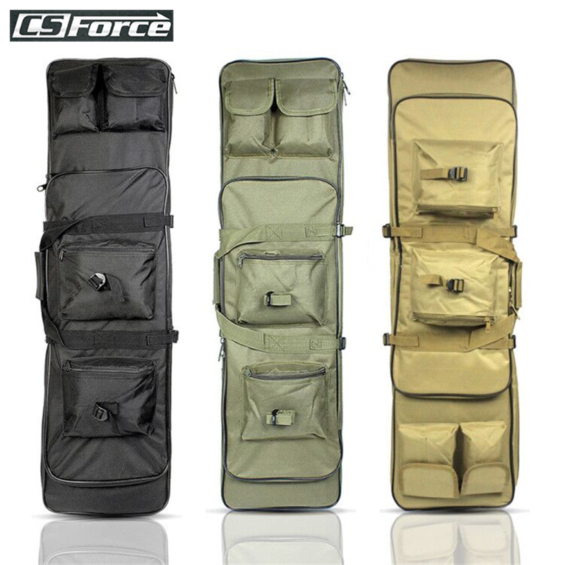 85 100 120cm Tactical Dual Rifle Carry Bag With Shoulder Strap Waterproof Military Airsoft Gun Case Pouch Protection Hunting Bag
