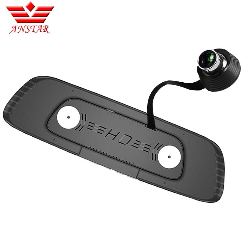 Perekam Video Cermin Belakang Lensa Dwi Lensa Kamera DVR Mobil 5