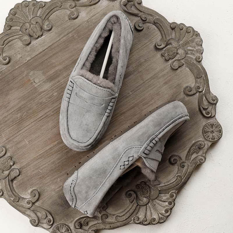 MIYAGINA femmes 100% naturel fourrure chaussures mocassins mocassins doux en cuir véritable loisirs appartements femme décontracté chaussures taille 34 40-in Mocassins from Chaussures    2