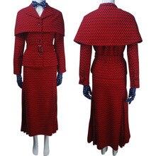 Для женщин Мэри Поппинс возвращается (2018) костюм косплей няня плащ пальто верхняя одежда костюм для хеллоуина Рождество подарок на день рождения