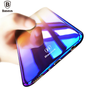 Baseus Brand Luxury Case For Samsung Galaxy S8 S8 Plus Aurora Gradient Color Transparent Hard PC