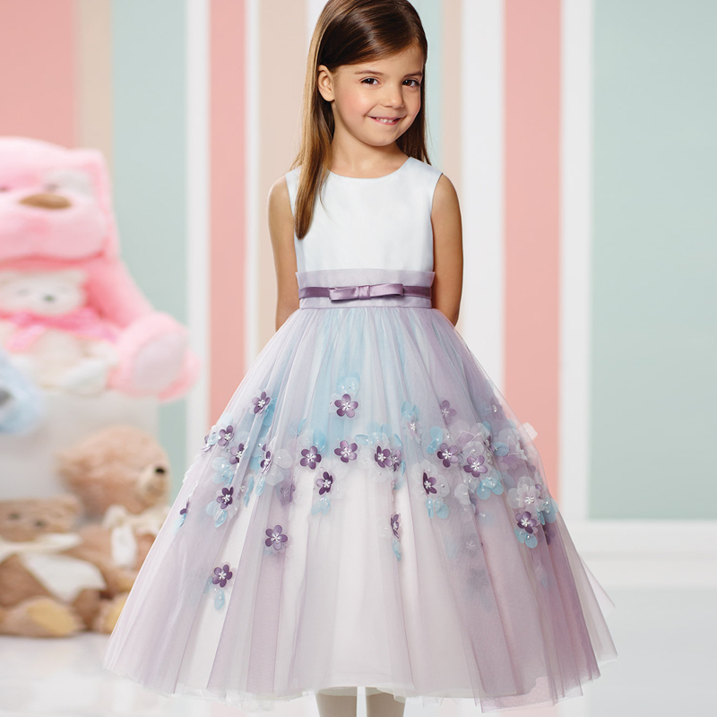 New Arrival Flower Girls High Quality Tulle with Sash A Line Unique Girls First Communion Dresses Custom Made Communion Gowns new sleeveless lace girls dress first communion dresses o neck with bow sash flower girl dresses ball gowns custom made vestidos