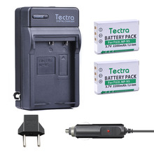 Tectra 2PCS NP-95 NP95 Camera Battery + Digital Charger+Car Plug for Fujifilm X30 X100 X100S X100T X-S1 FinePix F30 F31 fd