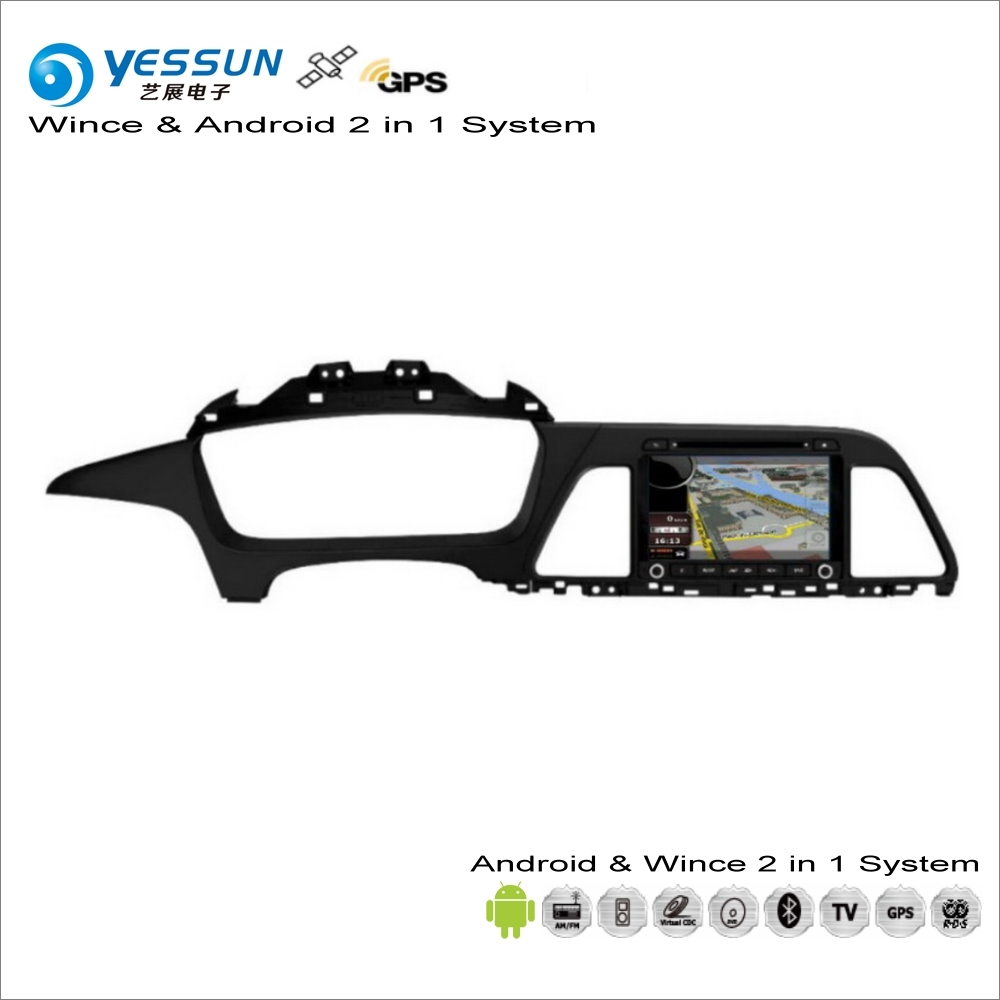 YESSUN For Hyundai Sonata YF 2015~2017 Car Android Navigation Radio CD DVD Navi Map Audio Stereo Video GPS Player Screen System yessun android car navigation gps for hyundai kona 2015 2017 audio video hd touch screen stereo multimedia player no cd dvd