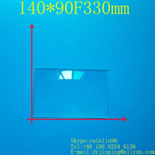 Free shipping rectangle Fresnel Lens 140*90 focal length ...