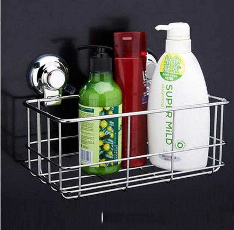 Support de salle de bains en acier inoxydable de haute qualité support de rangement pour étagère murale d'aspiration support de rangement pour salle de bain