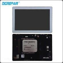 Blanco Para ASUS ZenPad Z300 Z300C Pantalla LCD Asamblea Digitalizador de Pantalla Táctil con el Marco Del Bisel, envío Gratis