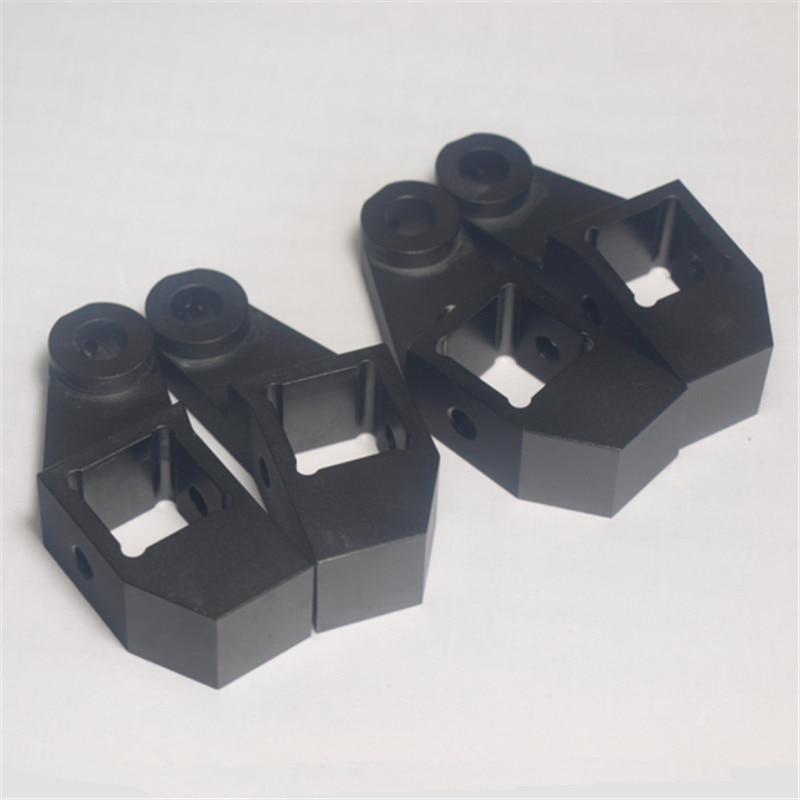 Funssor black color  aluminum alloy bed frame extrusion left+right bed corner kit  For DIY Lulzbot TAZ 3D printer universal black 3 76mm polished aluminum fmic intercooler piping kit diy pipe length 600mm for ford focus 98 12 ep lgtj76 600