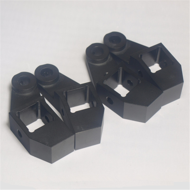 Funssor black color aluminum alloy bed frame extrusion left+right bed corner kit For DIY Lulzbot TAZ 3D printer