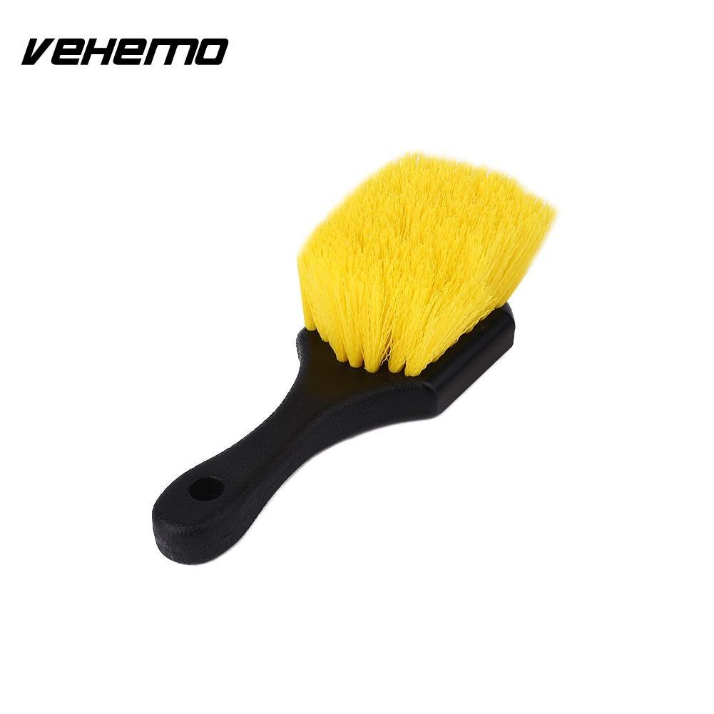 VEHEMO Handy Car Wash Brush Wheel Tire Cleaning Brush Car Care Maintanence Accessories Car Stying