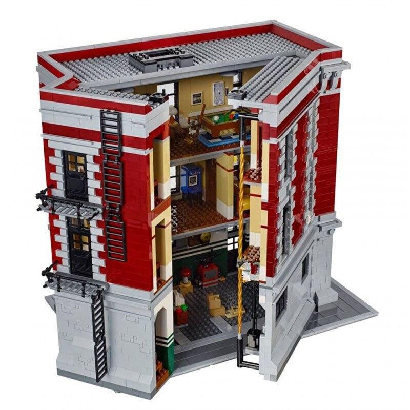 Создатель город улица серии Охотники за привидениями пожарный штаб Building Block кирпичи игрушечные лошадки 4705 шт. Совместимость с Legoings