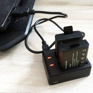 Image 5 - Usbデュアル充電器 + 2 個 1050mahの充電式リチウムイオンカメラのバッテリーeken H9 H9R H3 H3R H8PRO H8R h8 プロスポーツアクションカメラ