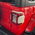 TOMEFON Für Jeep Wrangler SUV 2018 2019 Hinten Schwanz Licht Protector Lünette Abdeckung Trim Außen Zubehör ABS Splitter Carbon Schwarz