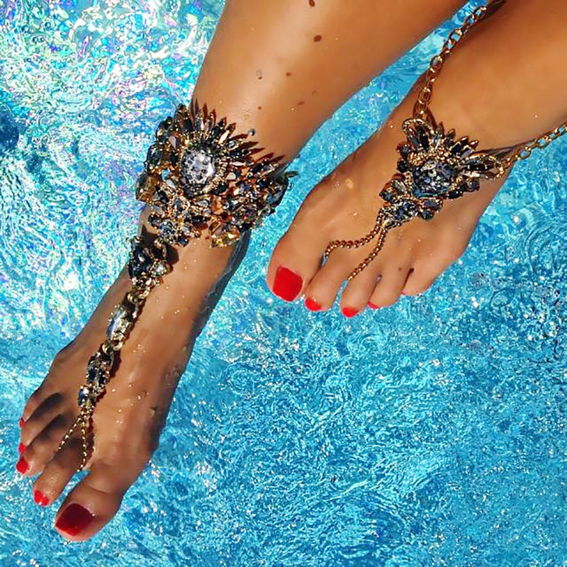 Pls contact us before you leave Neutral or Negative feedback About Boho  Crystal Anklet Australia Beach Vacation Ankle Bracelet Sandals Sexy Leg  Chain . b21936afe943