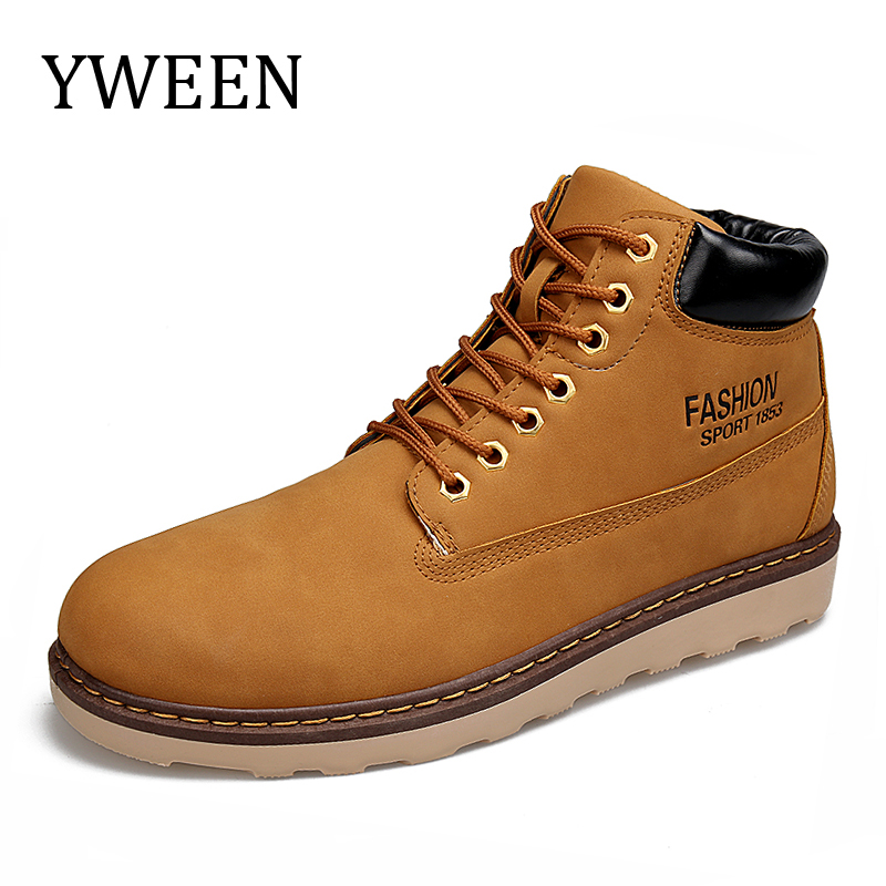 YWEEN Brand Super Warm Men s Winter Leather Boot Men Waterproof Rubber Snow Boots Leisure Boots