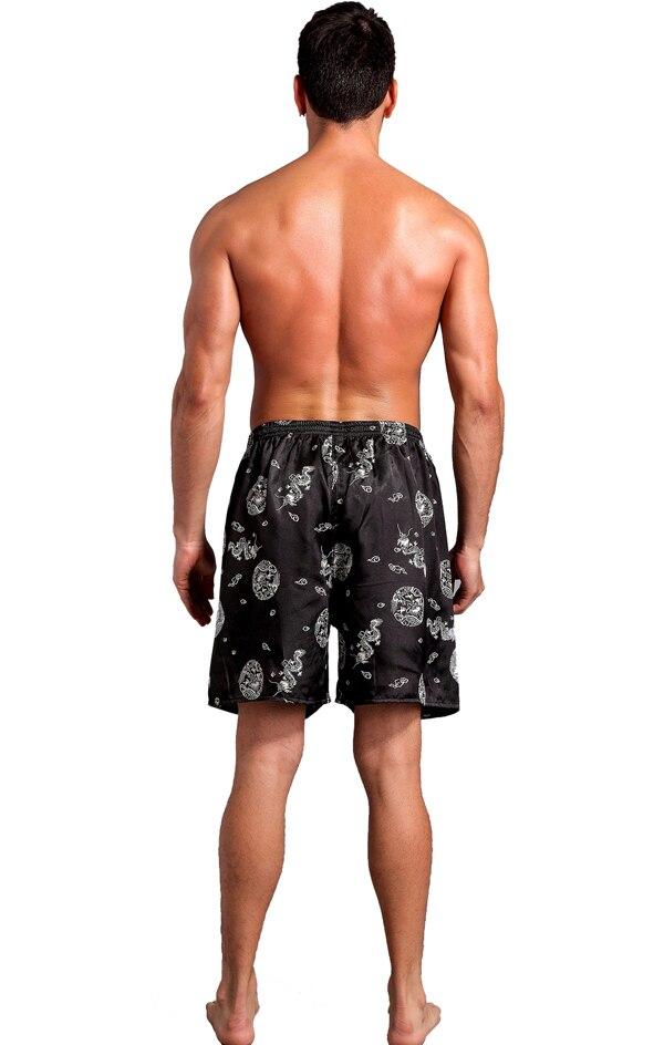 Мужские боксеры из сатина, вискозы, шелка, нижнее белье, домашняя одежда, шорты, одноцветные, смешанные, 20 шт./лот#2256