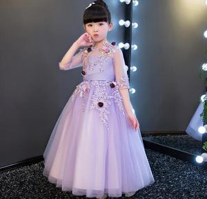 От 1 до 14 лет, рождественское фиолетовое кружевное свадебное платье для девочек платье с цветочным узором для девочек платье для выпускного ...