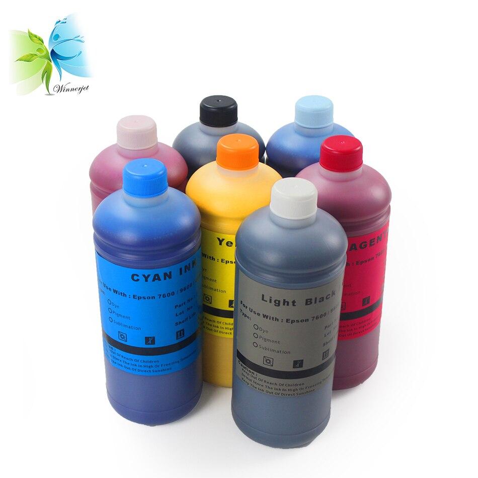 Encres pigmentées WINNERJET 1000 ML pour imprimantes Epson stylet Pro 4000 7600 9600 impression numérique
