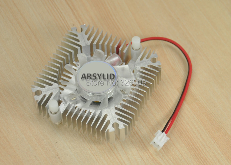 все цены на ARSYLID MA-5501A VGA card cooler video card aluminum Heatsinks Cooling Fan for 55mm mounting holes онлайн