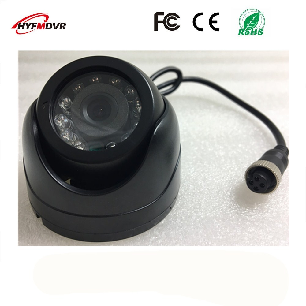 ahd1080p 720p 960p semi elliptical infrared night vision monitor head metal shell 12v wide voltage sony 600tvl taxi camera SONY 600TVL 2 inch monitor head hemispherical plastic shell with infrared light Metro AHD1080P/720P camera