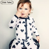 Fashion 2016 Boy Girl Rompers Autumn Baby Cotton One Pcs Rompers Baby Long Sleeve Jumpsuit Bebe