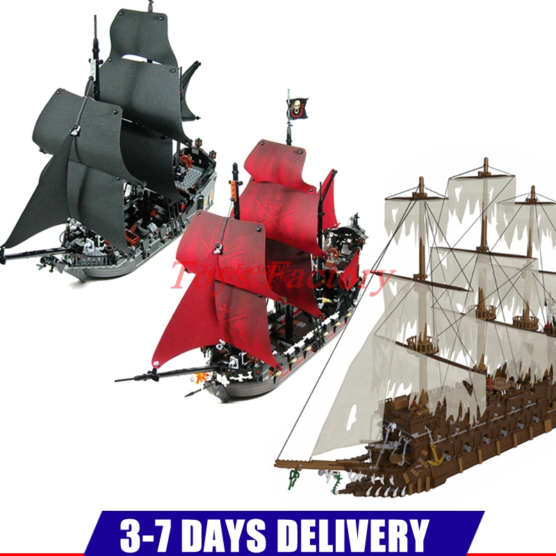 DHL MOC LEPIN 16016 3652Pcs The Flying the Netherlands Ship+16009 Qeen Anne's Reveage Ship+16006 The Black Pearl lepin 16006 804pcs pirates of the