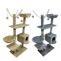 Cat's Tree Tower Condo Scratcher Home Furniture Pets House Hammock Furniture Pets House Hammock 153cm Cat's Tree Tower With Ball