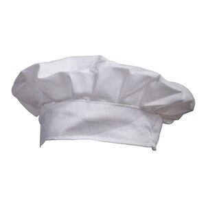 Elegante vestido de fiesta, panadero, cocina, barbacoa, gorro de cocinero blanco