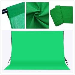 CY Бесплатная доставка 3x2 м сплошной цвет фоны зеленый экран хлопок муслин задний план фотографии фон освещение студия Chromakey