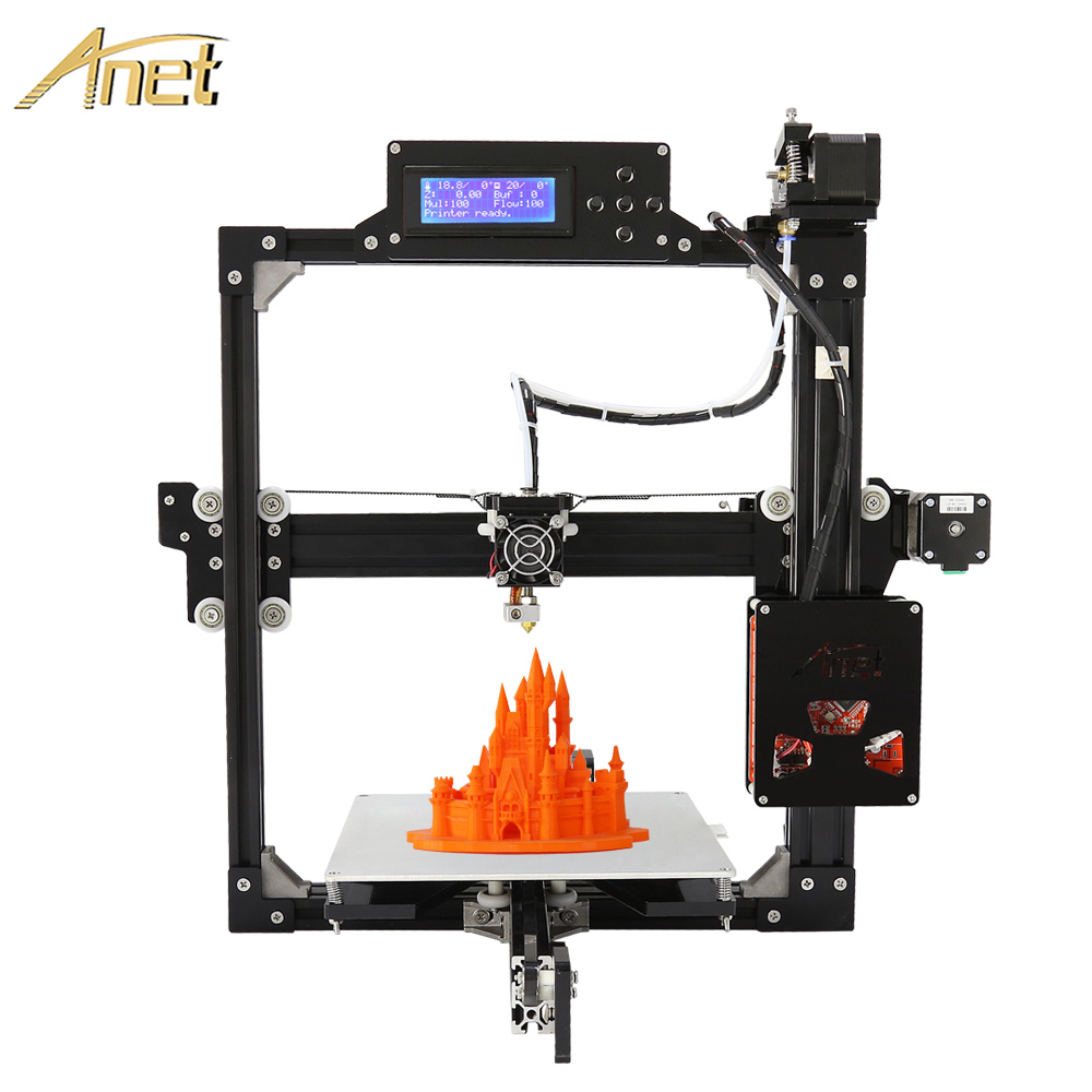 Large Printing size Full metal Frame Anet A2 3d printer Kit DIY Easy Assemble Hotbed SD
