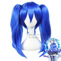 MekakuCity Actors / Kagerou Project Enomoto Takane Ene anime Cos Wig Blue 2 Ponytail Straight Long Synthetic Hair sobretudo lady