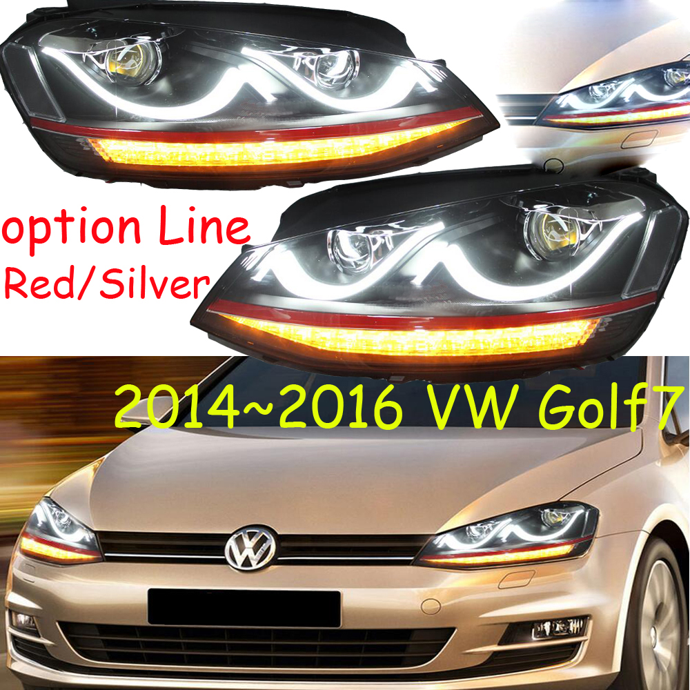 HID,2014~2018,Car Styling for Golf7 Headlight,sharan,Golf 7,routan,saveiro,polo,passat,magotan,Golf7 head lamp tiguan taillight 2017 2018year led free ship ouareg sharan golf7 routan saveiro polo passat magotan jetta vento tiguan rear lamp