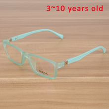 Kids Eyeglasses Children Unbreakable TR90 Glasses Frame Optical Prescription Eyewear Frames Girls Boys Green Patchwork Glasses