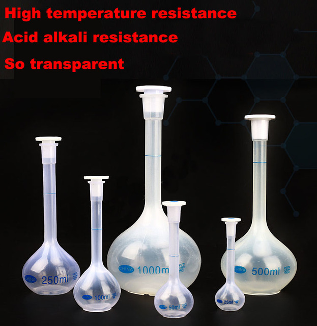 2pcs/lot Plastic Volumetric flask Laboratory Chemistry ...