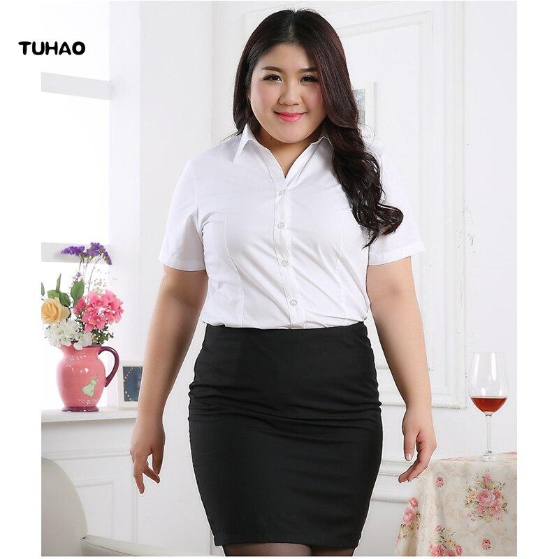 d60e439bec 2019 de las mujeres de gasa blusa camisa blanca mujer manga corta de  mariposa camisa Plus. RM16779234634900275. TUHAO 2018 verano Oficina señora  blusas ...