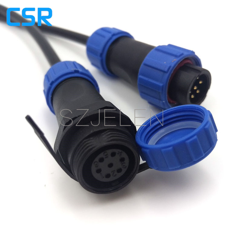 SP1310, Waterproof Connector 7 pin,IP68, LED Power connector,Automotive connectors, outdoor cable wire connector plug and socket jelen hp20 series 7 pin industrial connectors plug socket aviation connector power charger male and female connectors 7 pin