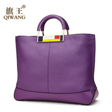 Original Purple Handbag for Women Bags Genuine Leather Female Designer Handbags Famous Brand Women Bags High Quality bolsa цена в Москве и Питере