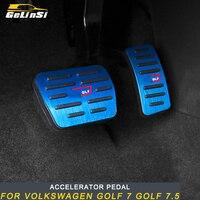 Gelinsi For Volkswagen Golf 7 Golf 7.5 Car Styling Accelerator Rest Brake Pedal Cover Trim Frame Sticker Interior Accessories