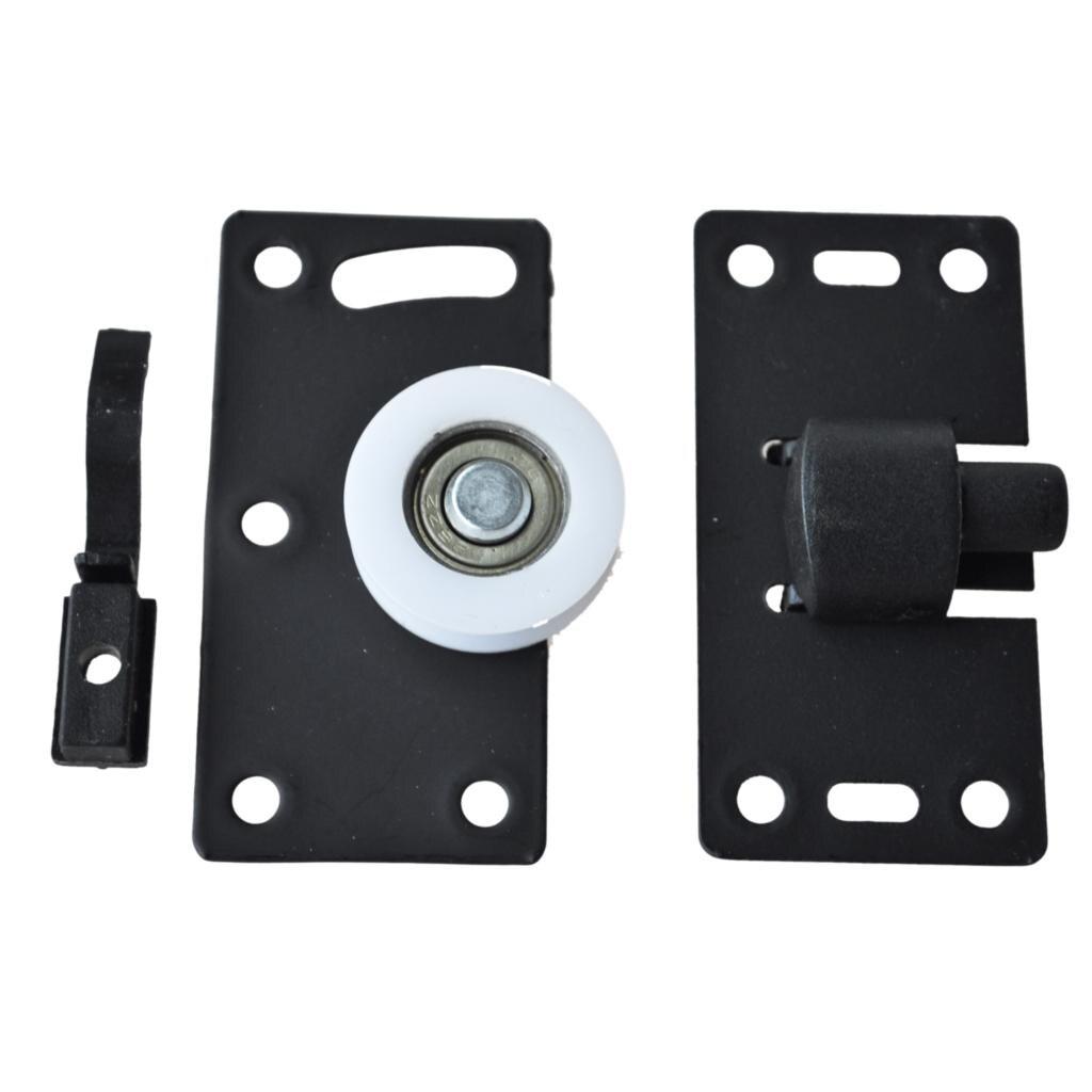 LHLL!30mm Diameter White Nylon Wheel Furniture Sliding Door Roller Set