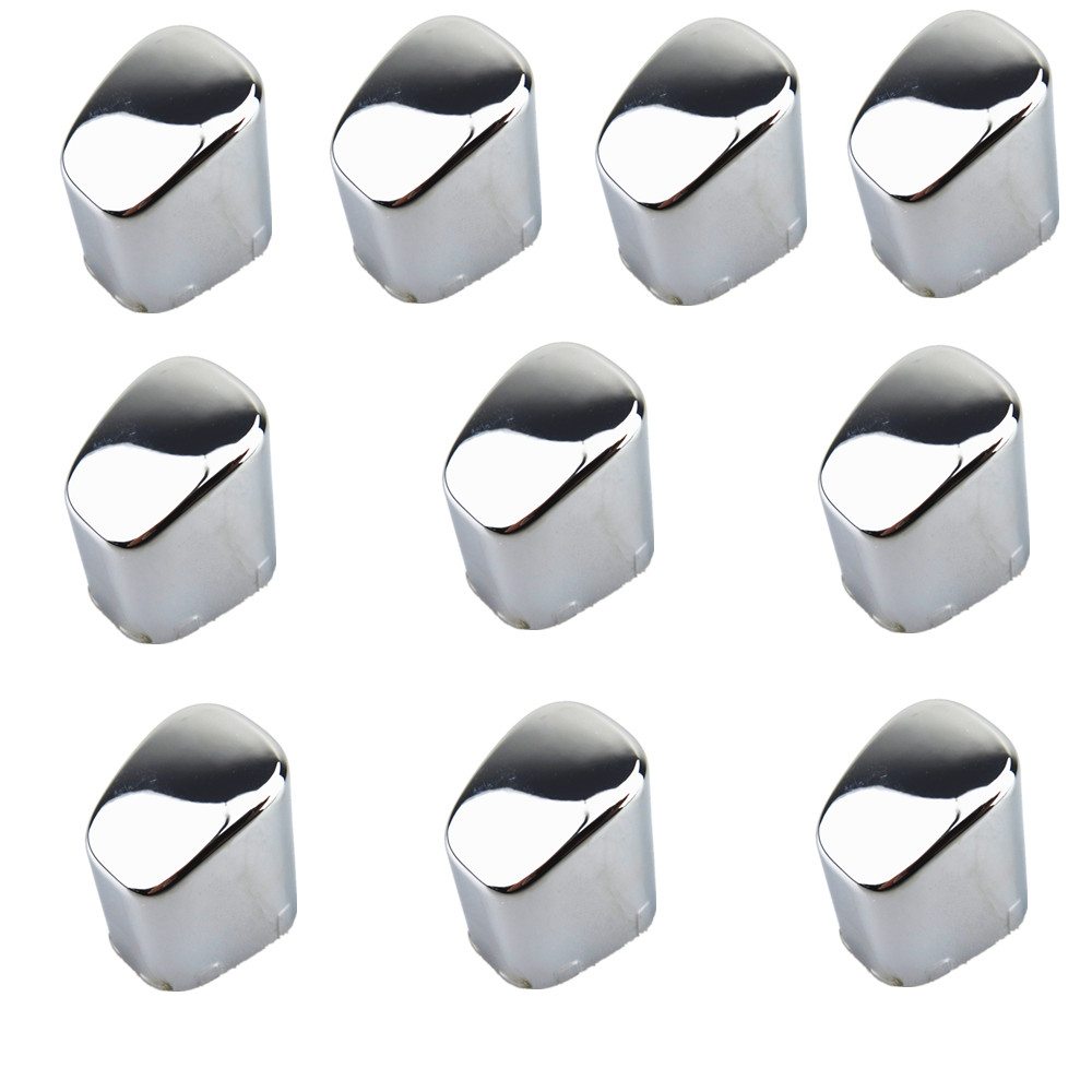 READXT For VW New Polo 10Pcs ABS Chrome Hand Brake Button Cover Auto Accessories Fit VW New Polo CROSS GTI 6RD71333A 6RD 713 33A