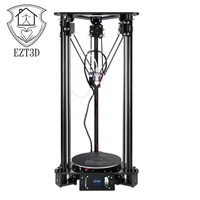 EZT T1+L LCD Color Screen 3D Printer with 1.5W Laser Auto Change Material Intelligent Leveling Triangle Delta PLA ABS Printer