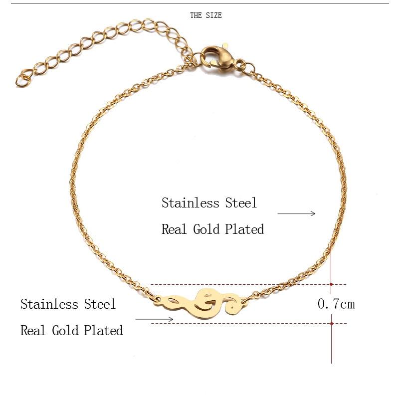 Stainless Steel Music Jewelry Set Necklace Bracelet Earring Treble Clef 091