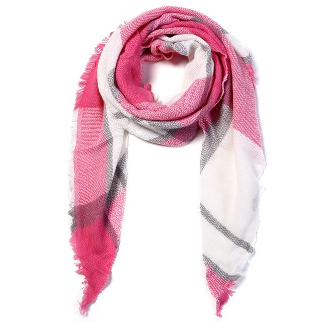 VIANOSI Women Scarf Winter Triangle Scarf Brand Designer Women Shawl Cotton Foulard Plaid Scarves Blanket Dropshipping VA242
