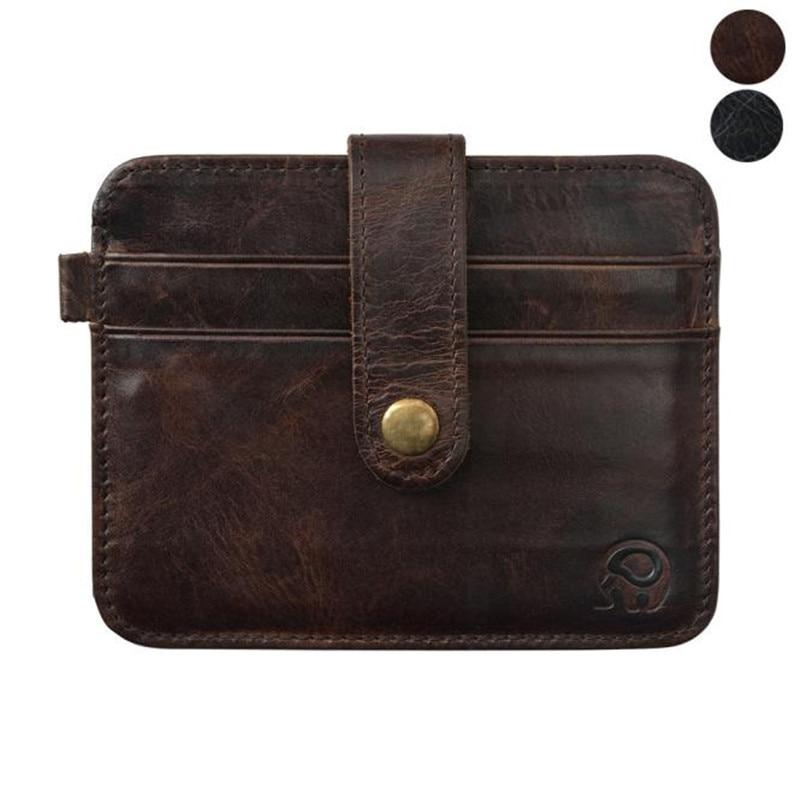 Men Leather Wallet Credit Cart Wallet Mini Slim wallet card & ID Holders Men Business credit card holder 2018 NEW