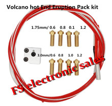 3D printer parts E3D Volcano hot end eruption pack kit set heater block + nozzle pack for 1.75/3 mm E3D Volcano kit Freeshipping