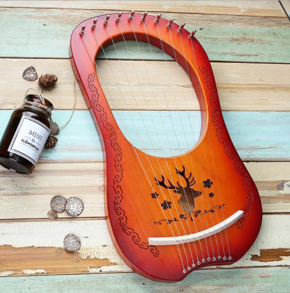 10 String Lyre harp металлические струны красное дерево лесенка из дерева и веревки инструмент