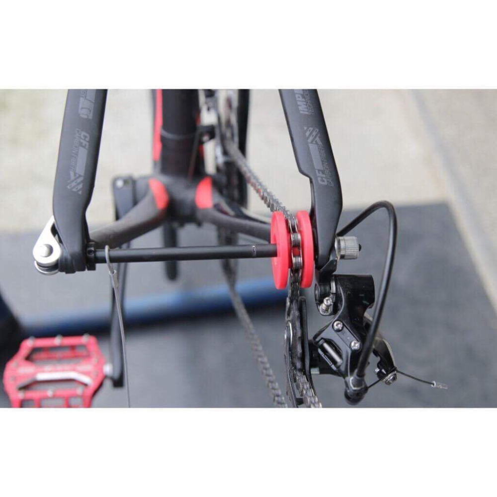Virtual Chain Keeper Cleaner Holder Tool Nylon roller on Dropout Derailleur Rear