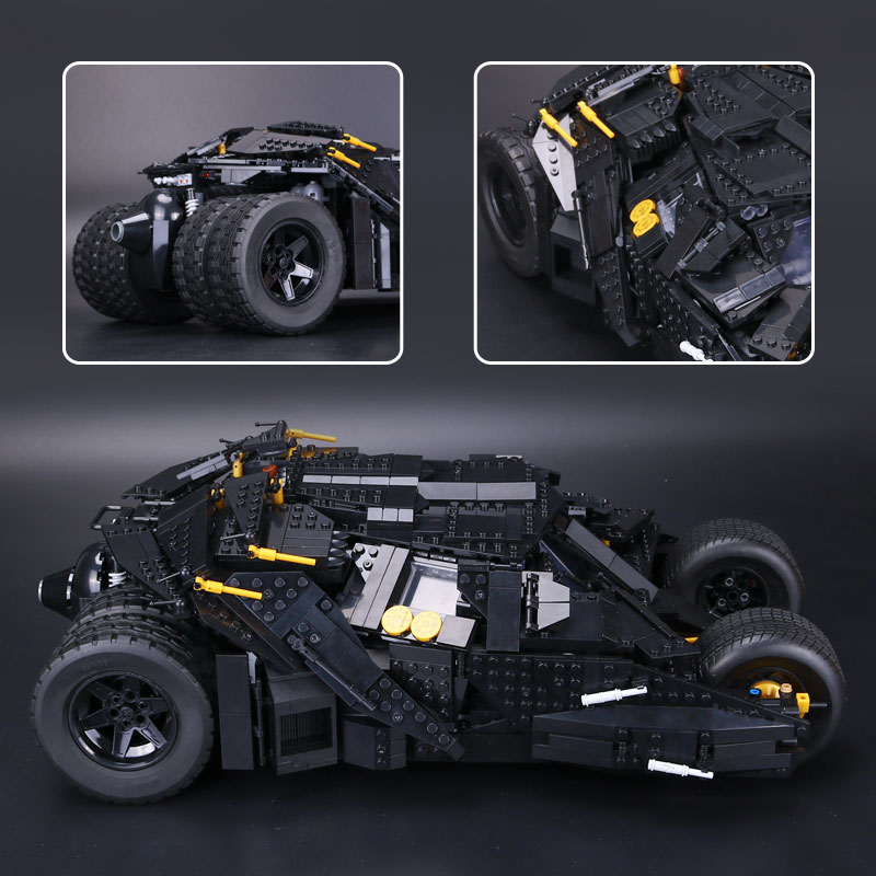 LEPIN 07060 Genuine Super Hero Movie Series Batman Armored Chariot Compatible With lego 76023 Building Block Bricks Boy Toys hot compatible legoinglys batman marvel super hero movie series building blocks robin war chariot with figures brick toys gift